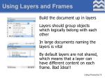 using layers and frames