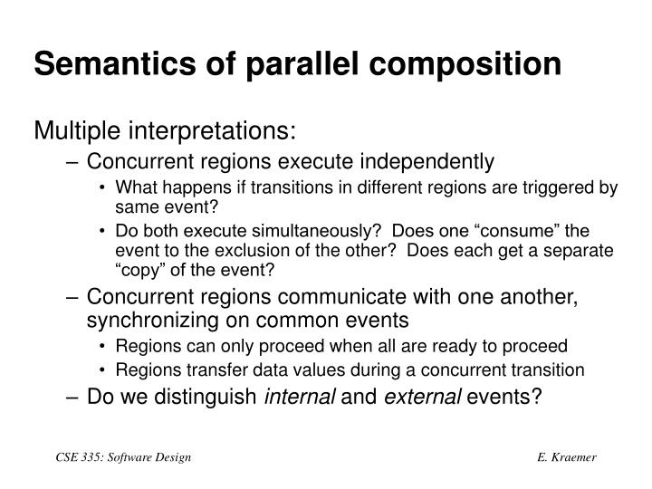 Semantics of parallel composition