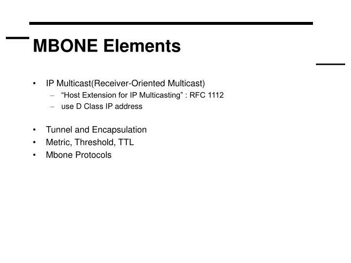 MBONE Elements