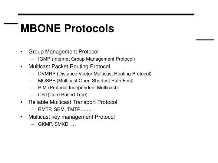 MBONE Protocols