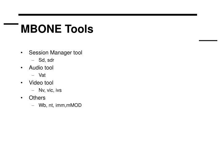 MBONE Tools