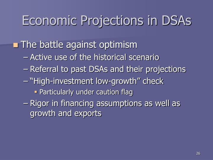 Economic Projections in DSAs