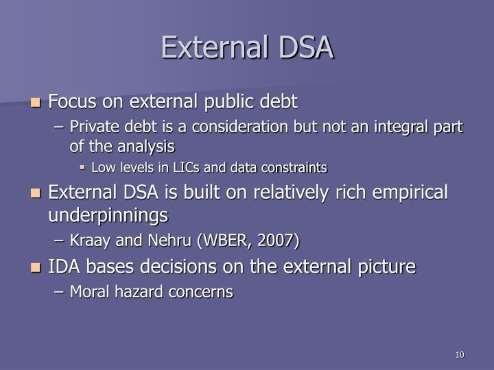 External DSA