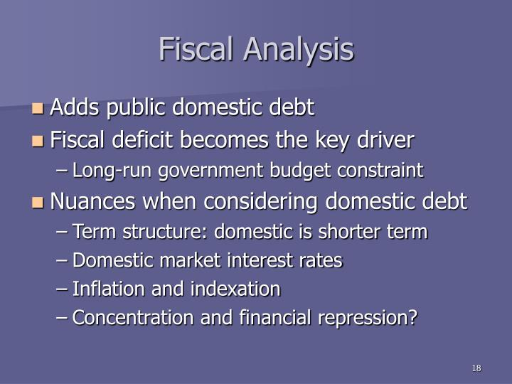 Fiscal Analysis