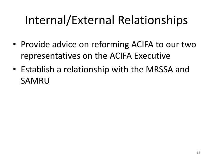 Internal/External Relationships