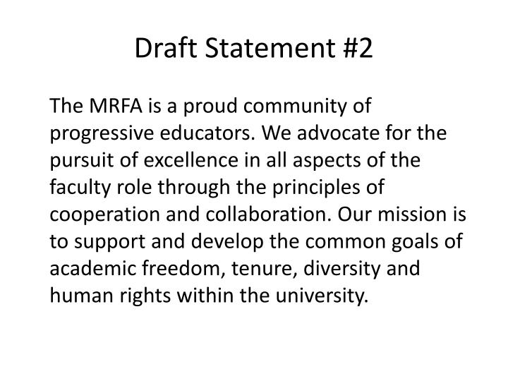 Draft Statement #2