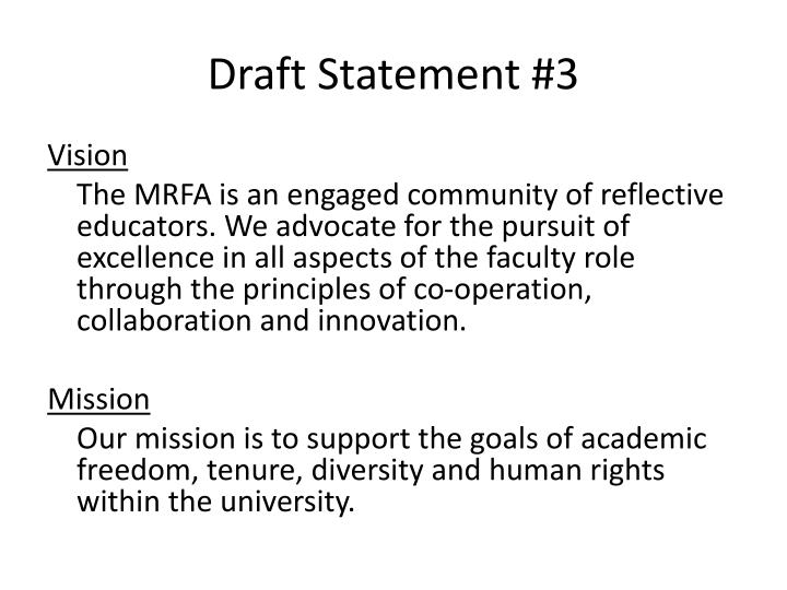 Draft Statement #3