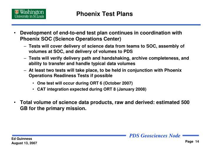 Phoenix Test Plans