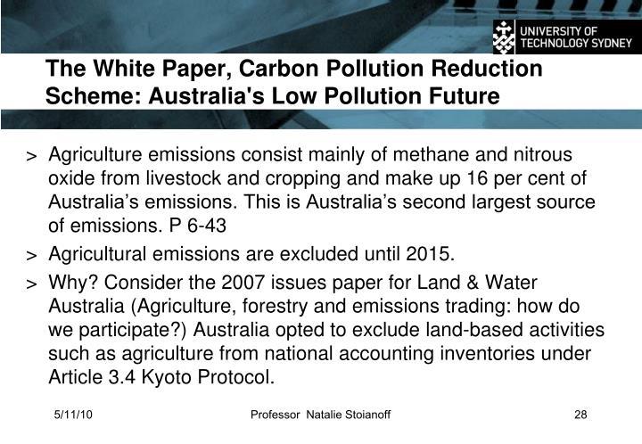 The White Paper, Carbon Pollution Reduction Scheme: Australia's Low Pollution Future