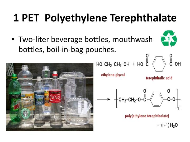 1 PET Polyethylene Terephthalate