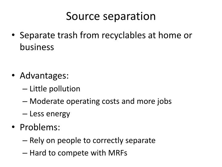 Source separation