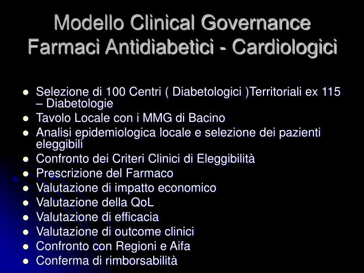 Modello Clinical Governance