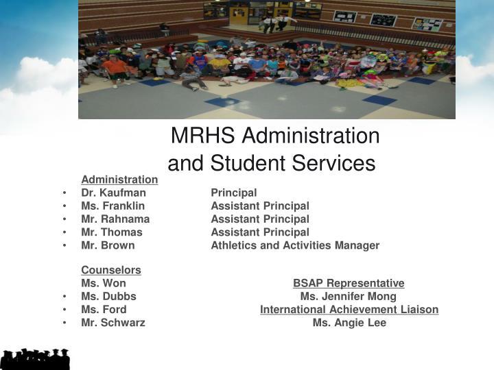 MRHS Administration