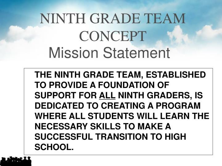 NINTH GRADE TEAM CONCEPT