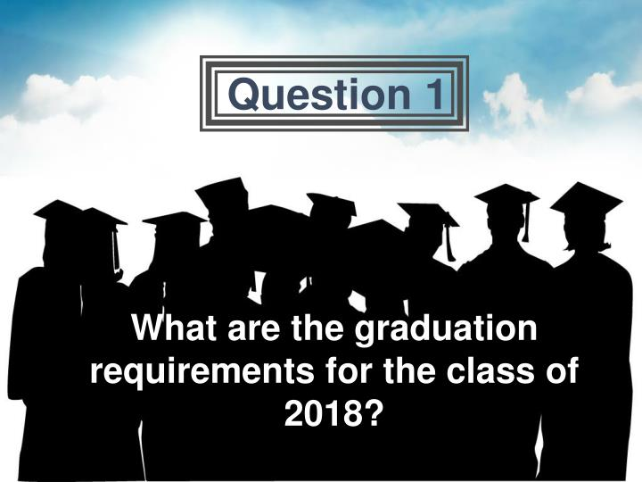 What are the graduation requirements for the class of 2018?