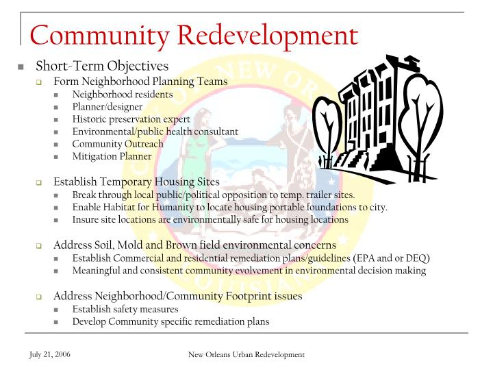 Community Redevelopment