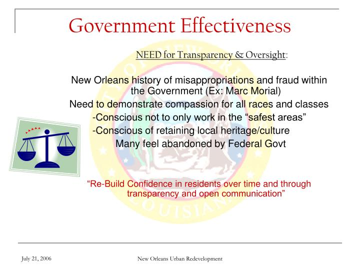Government Effectiveness