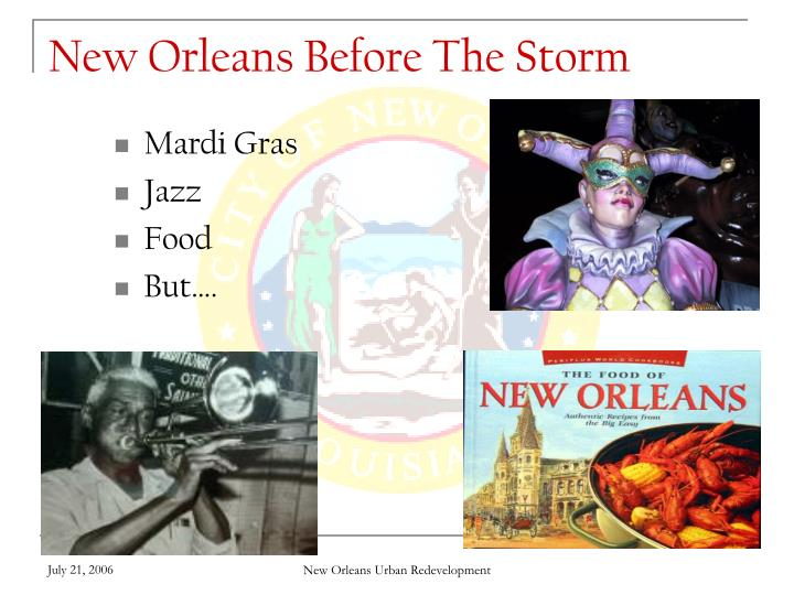 New orleans before the storm