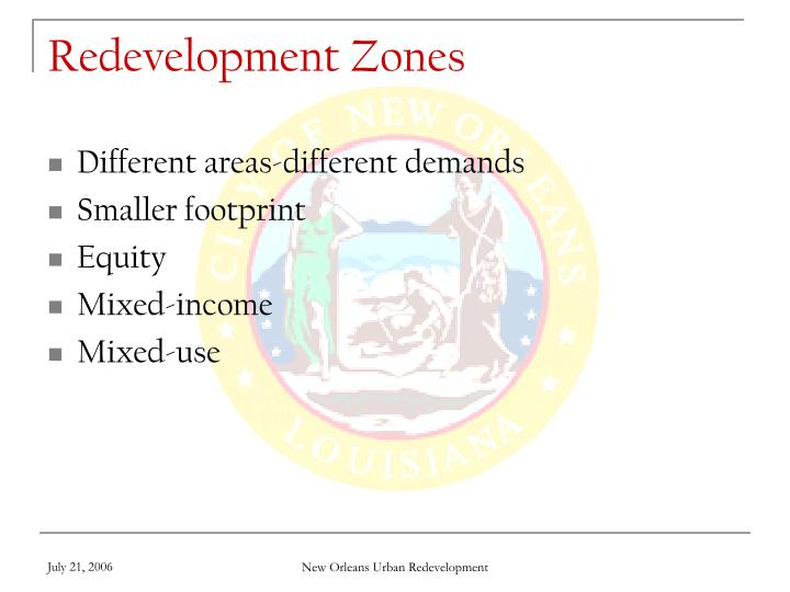 Redevelopment Zones