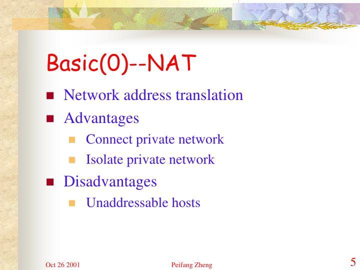 Basic(0)--NAT