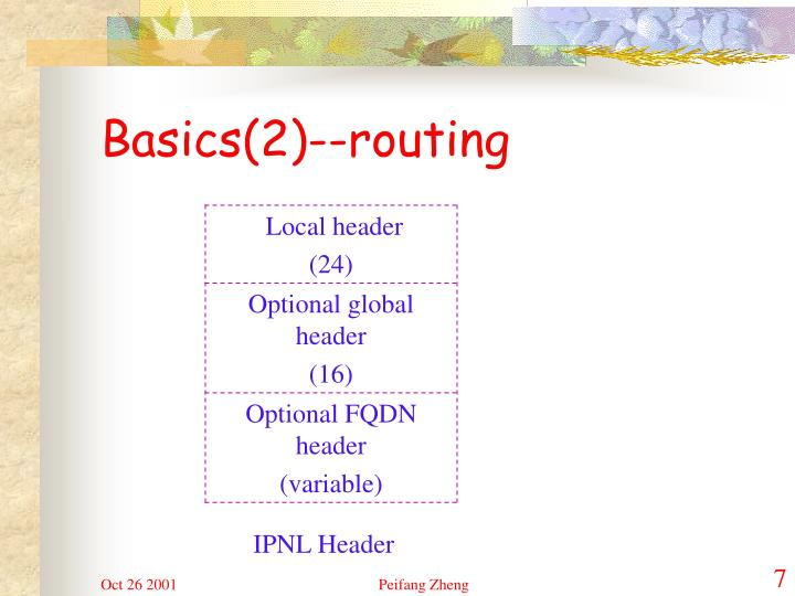 Basics(2)--routing