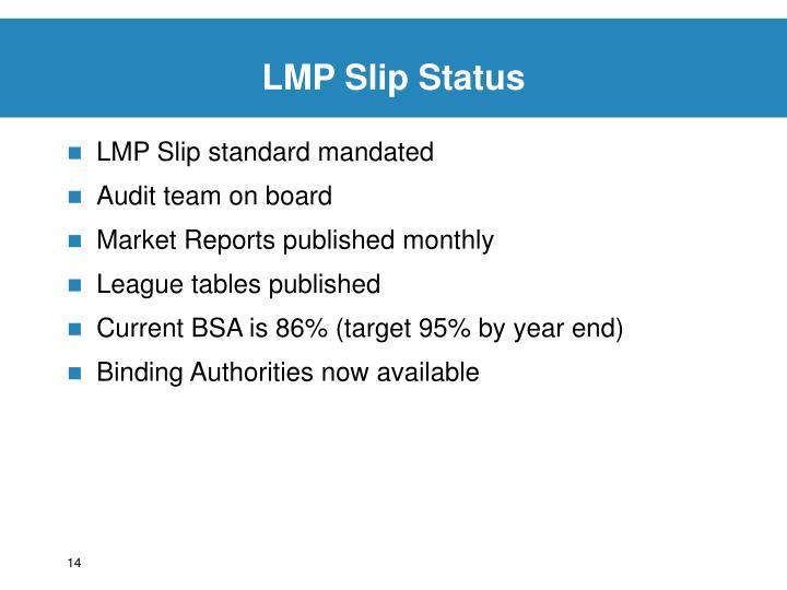 LMP Slip Status