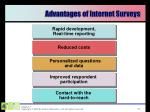 advantages of internet surveys