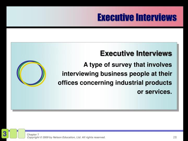 Executive Interviews
