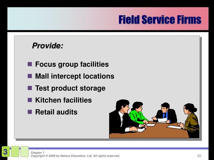 Field Service Firms