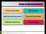 forms of survey research