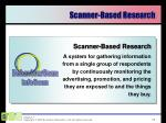 scanner based research