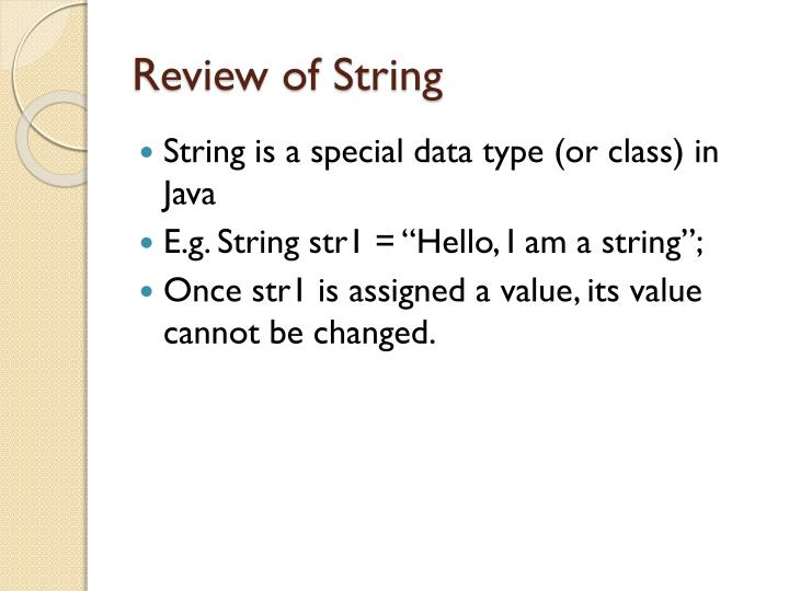 Review of string