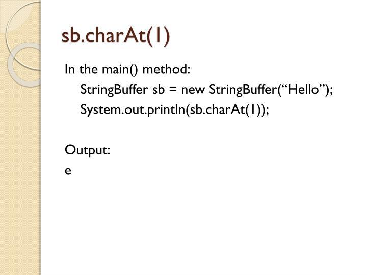 sb.charAt