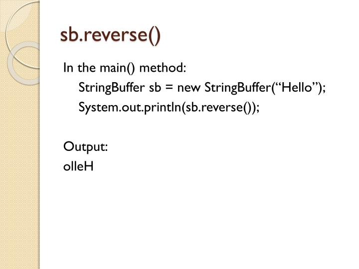 sb.reverse