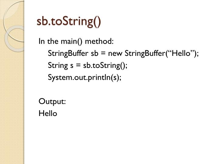 sb.toString