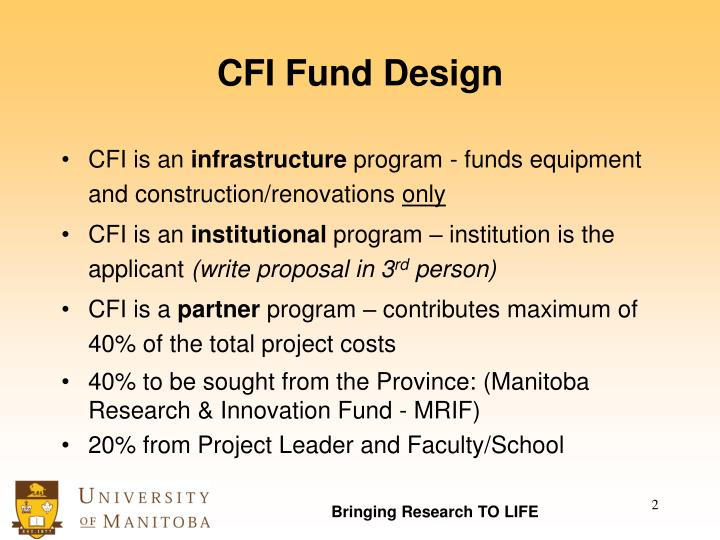 CFI Fund Design