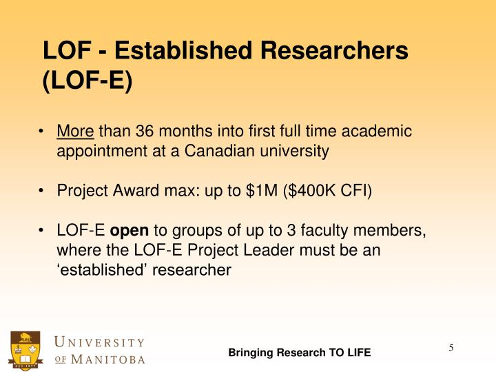 LOF - Established Researchers (LOF-E)