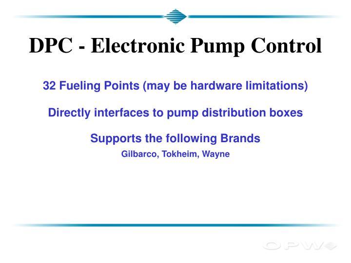 DPC - Electronic Pump Control