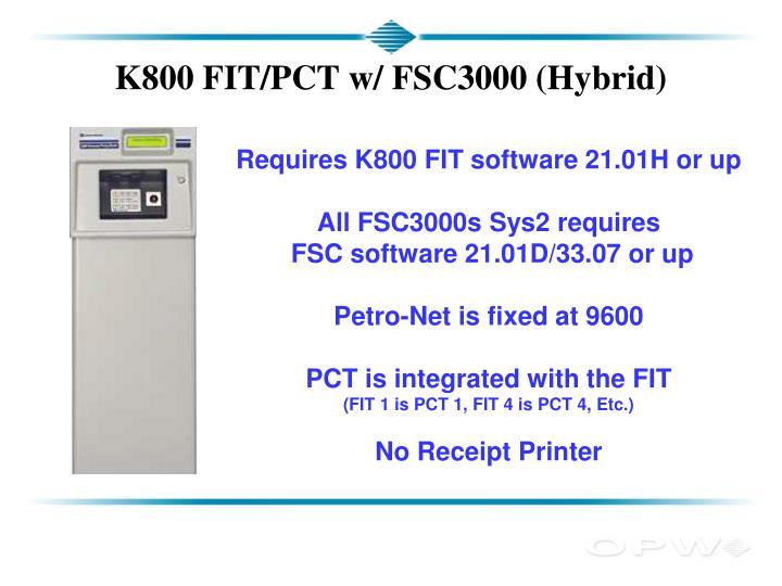 K800 FIT/PCT w/ FSC3000 (Hybrid)