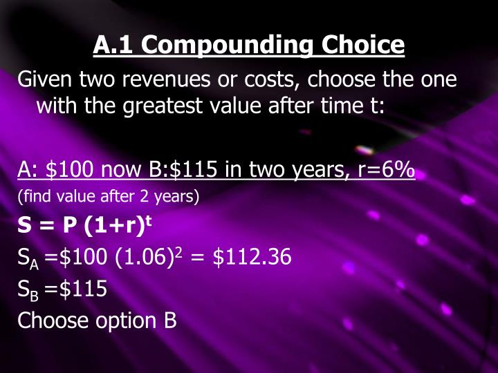 A.1 Compounding Choice