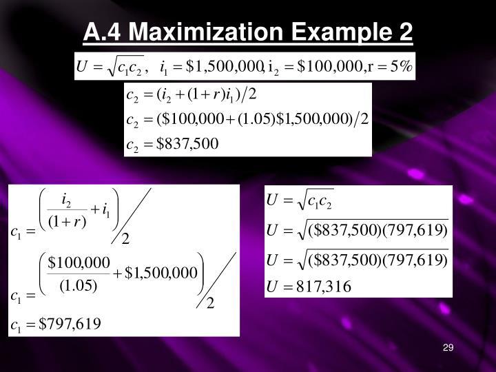 A.4 Maximization Example 2