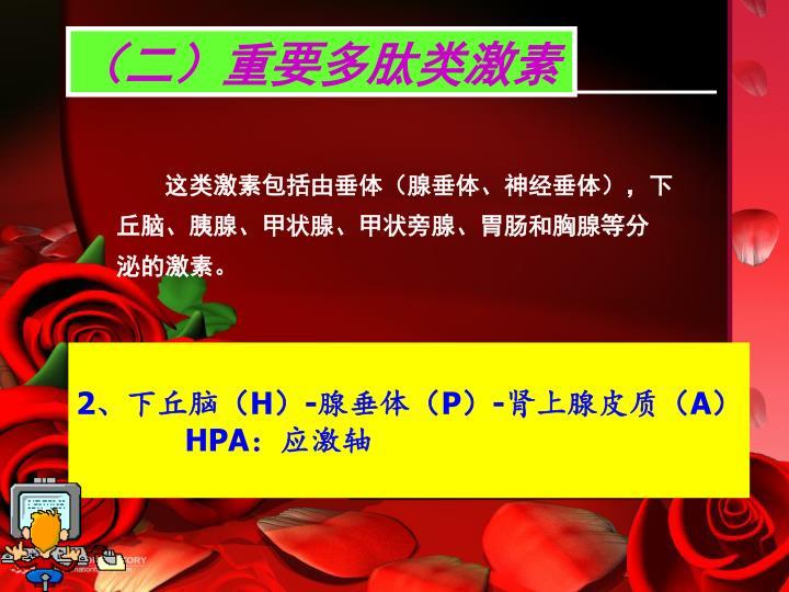 (二)重要多肽类激素