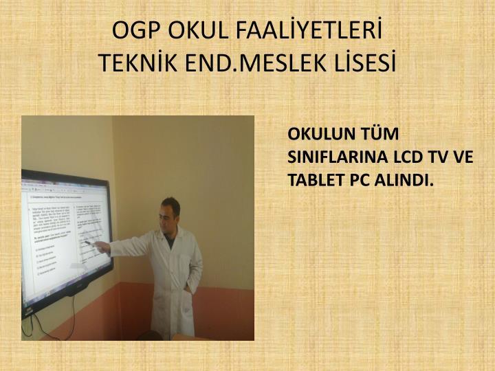OGP OKUL FAALİYETLERİ