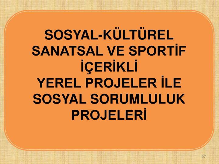 SOSYAL-KÜLTÜREL