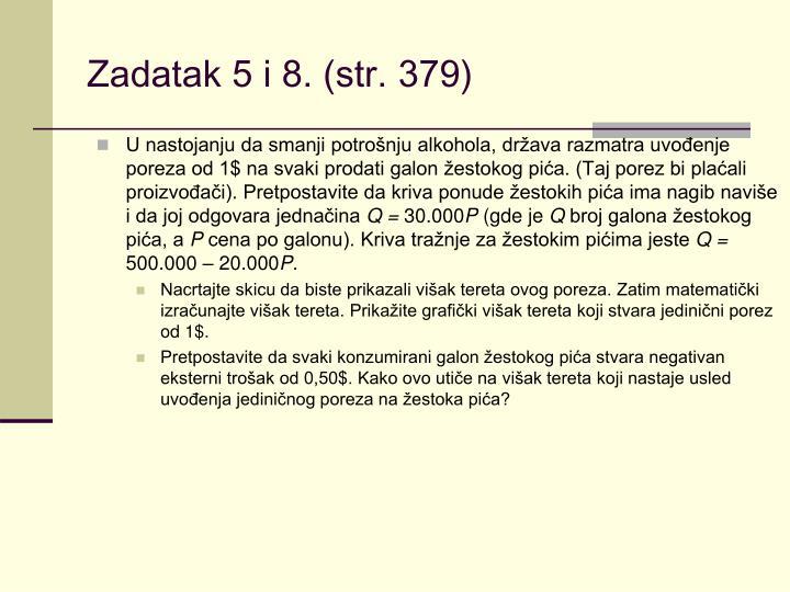 Zadatak 5 i 8. (str. 379)
