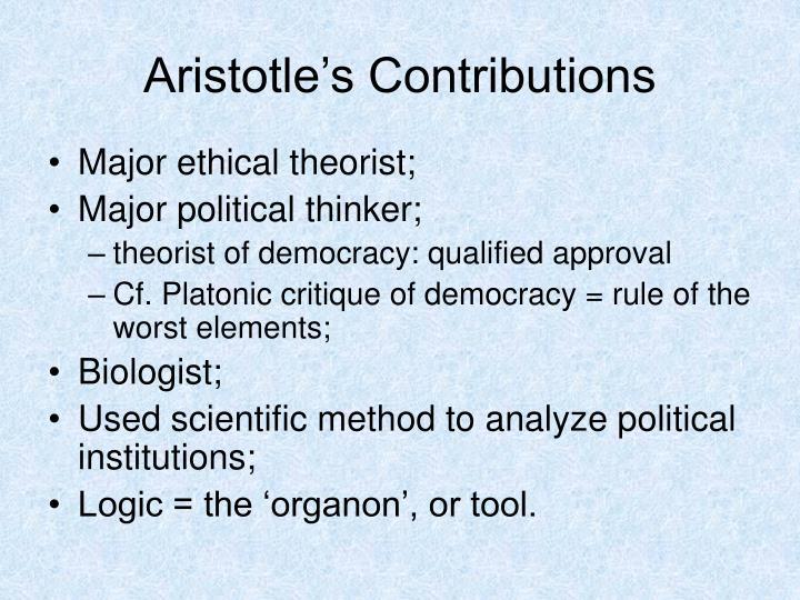Aristotle's Contributions