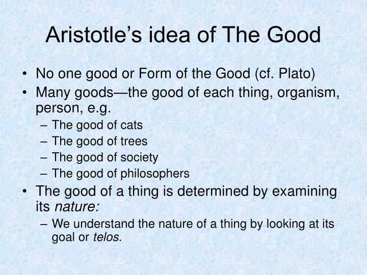 Aristotle's idea of The Good