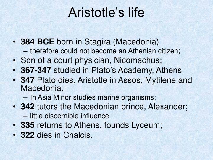 Aristotle's life