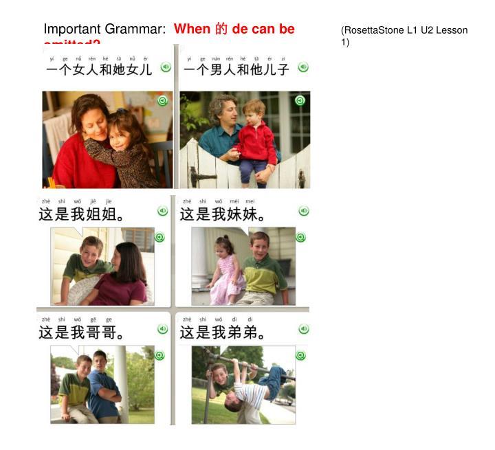 Important Grammar: