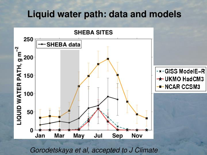 Liquid water path: data and models